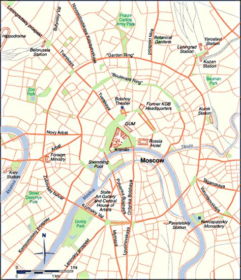 moscow map map of moscow russia