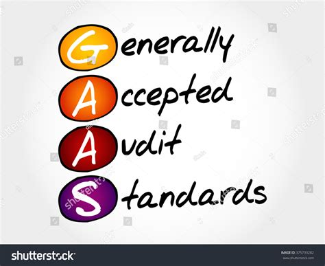 Mba Acronym Business by Gaas Generally Accepted Audit Standards Acronym Stock