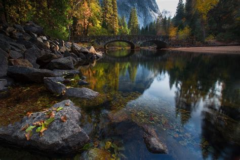 wallpaper river water rocks trees nature landscape rock bridge water river trees