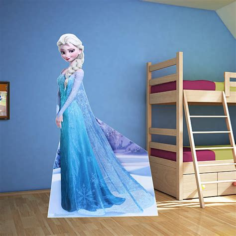 bunk bed template snow elsa fathead jr frozen disney
