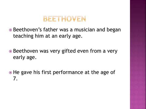 mozart biography ppt ppt biography of ludwig van beethoven powerpoint