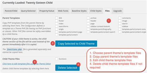 child theme template how to use child theme configurator plugin
