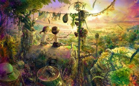 Anime Jungle by Children Living In The Jungle Wallpaper Anime Wallpapers