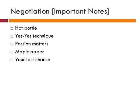 Negotiation Notes Mba negotiation important notes