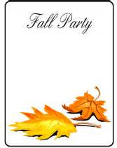 free printable fall invitation templates free printable fall invitations