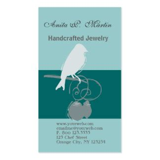 Handmade Jewelry Business Business Card - 900 business cards and business card