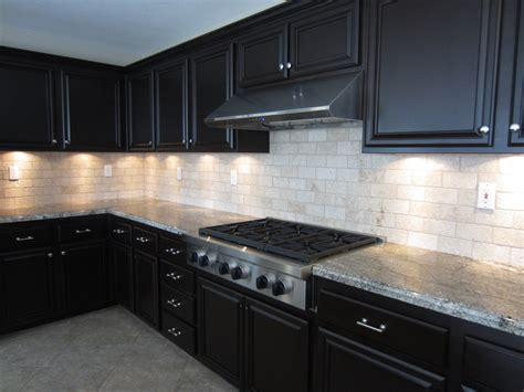 kitchen backsplash ideas for dark cabinets white glass tile backsplash with dark cabinets jpg 1024