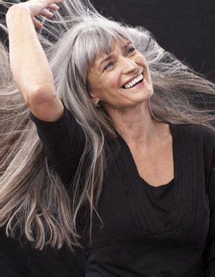 long gray hair with bangs long gray bangs hair pinterest