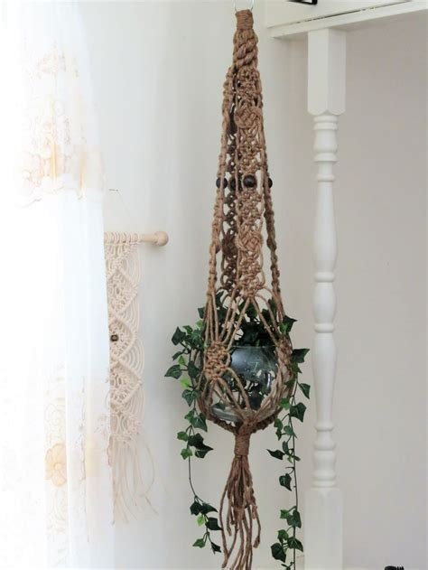 Macrame Pot Holder Pattern - jute macrame plant hanger macrame hanging planter large