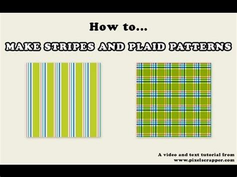 how to make striped and plaid patterns in photoshop