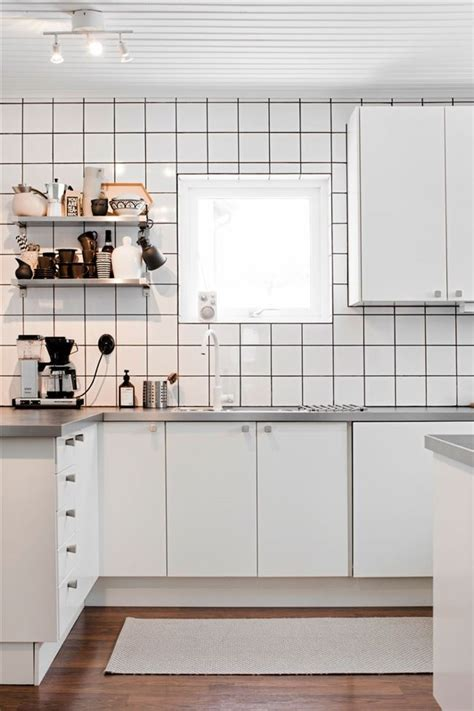 white tile kitchen decordots kitchen inspiration white tiles black grout