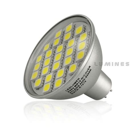 Lu Dop Tancap T10 12v 5w mr16 ld 12v led halogen 5w 450lm 27led smd 5050 bia蛛y zimny ip44 lumines