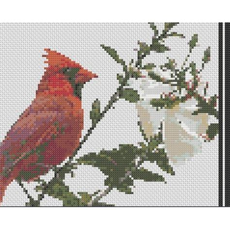 counted cross stitch ornament free patterns cardinal counted cross stitch pattern