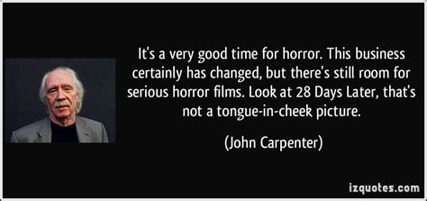 there s still room for it s a time for horror this business certainly has changed but there s still room