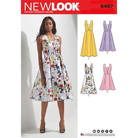 pattern review new look 6094 misses dress with bodice and length variations new look