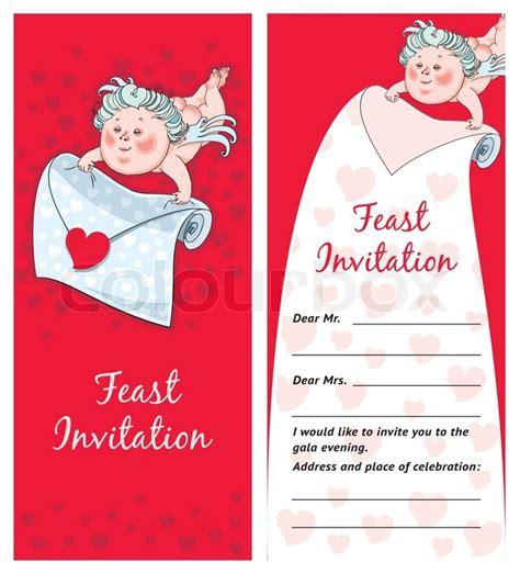 amor mit einem brief valentinstag postkarte einladung