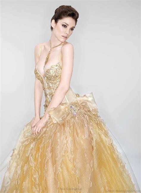 Wedding Dress Gold by Kontogruni Wedding Dresses Wedding Inspirasi