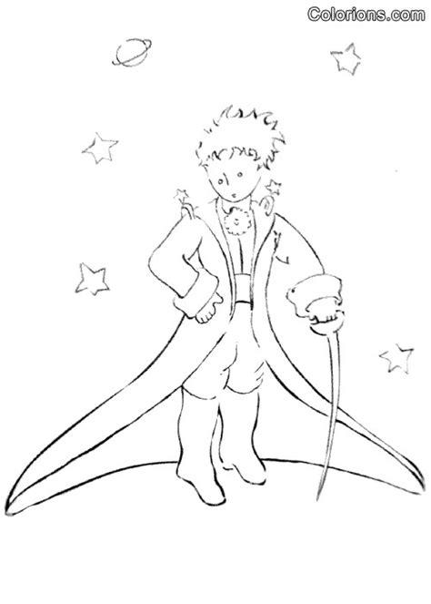 Coloriage Le petit prince en ligne dessin gratuit à imprimer