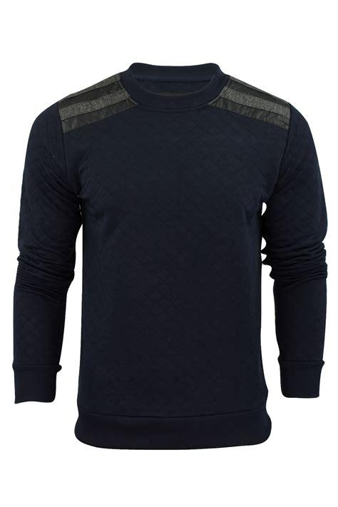 mens black patterned jumper mens sweatshirt jumper by brave soul nadiu quilted