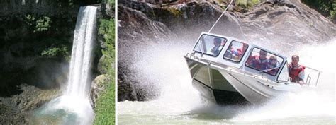 jet boat up waterfall ten ways to do may long weekend whistler style the