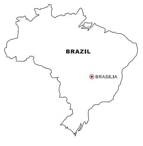 map  brazil coloring color area