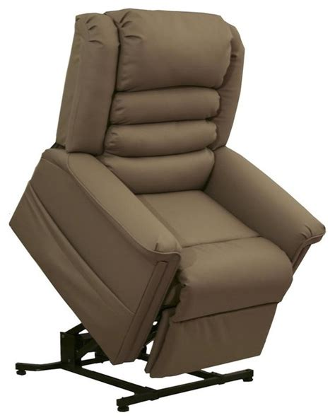 houzz recliners invincible power lift lay out chaise recliner