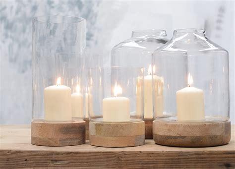 Hurricane Lantern Candle Idha Hurricane Lantern Mango Wood Glass Candle