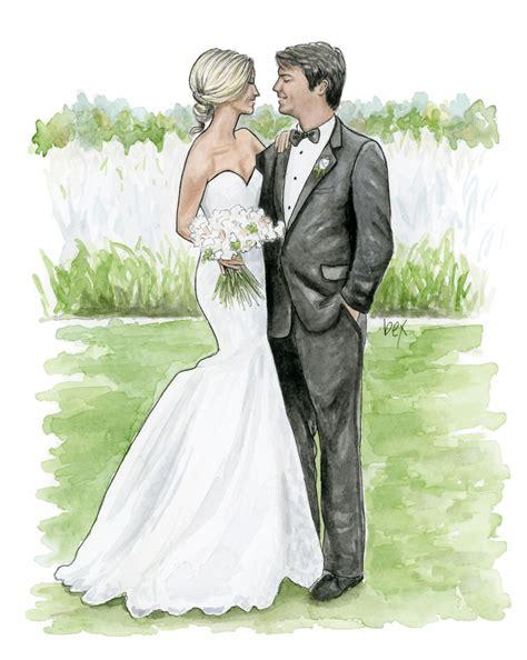 Wedding Illustration by Wedding Illustration Commission Hinson