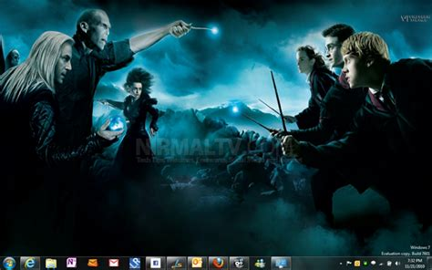theme exles in harry potter harry potter and the deathly hallows theme for windows 7