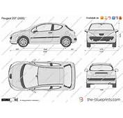 The Blueprintscom  Vector Drawing Peugeot 207 3 Door