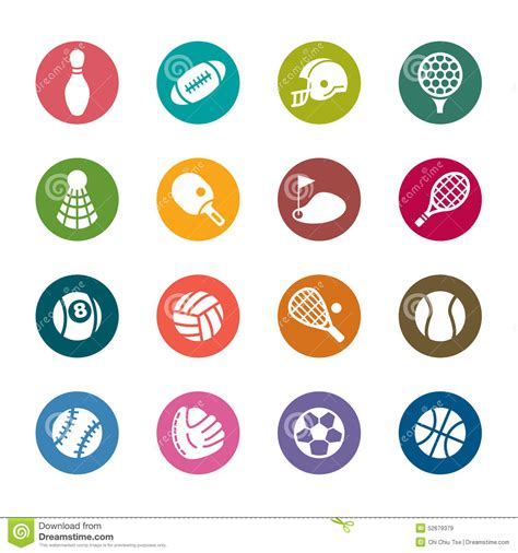 sport colors sport color icons stock illustration image 52679379