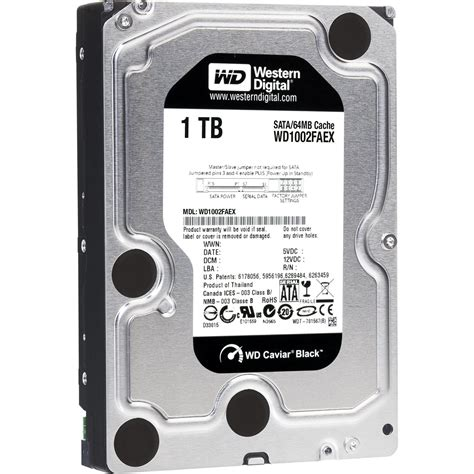 Western Digital 1tb Black western digital 1tb 7200 rpm sata 6gb sec 3 5 quot caviar