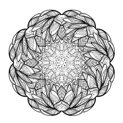 fiore di loto disegno stilizzato illustrazione di zen fiore di loto disegno lineare