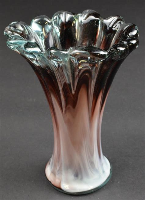 Handmade Glass Vases - glass vase handmade free form flower vase