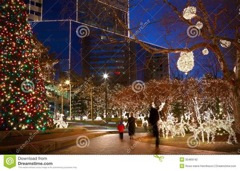 christmas lights stock photo image of winter america