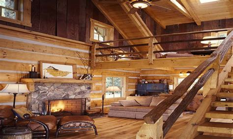 Small Log Home Interiors by Small Cabin Design Ideas