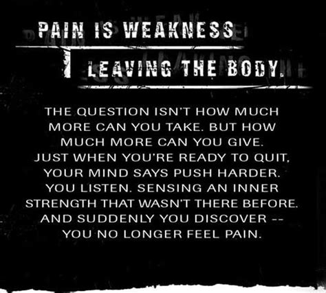 pain is weakness leaving the body tattoo 156 best images about marines on marine corps