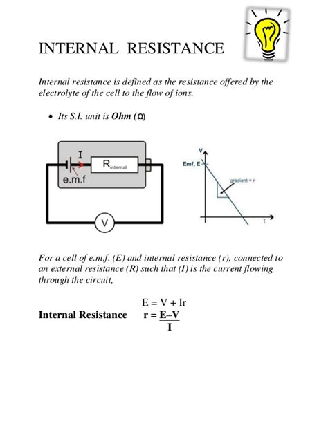 what factors affect the resistance of a resistor factors on which the resistance emf of a cell depends