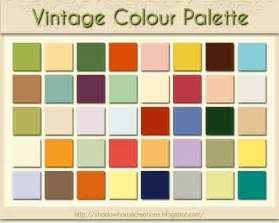 antique colors shadowhouse creations vintage colour palette