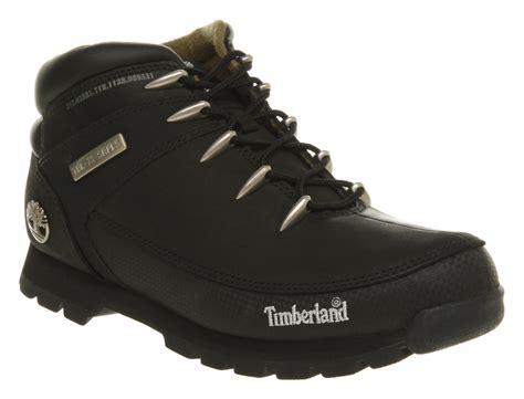 mens black timberland boots mens timberland eurosprint black nubuck boots ebay
