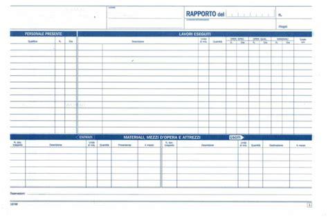 ufficio registro napoli acquista rapportini di cantiere 2 copie data ufficio