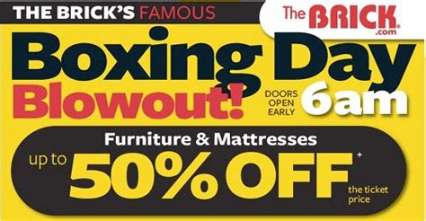 the brick couches canada sponsored the brick boxing day blowout flyer canadian
