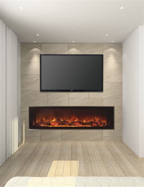 custom full wall unit with accented fireplace moda modern flames