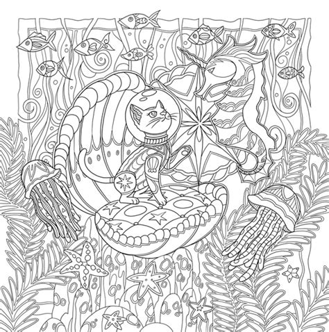 millions of cats coloring pages mystical cats in secret places a cat lover s coloring