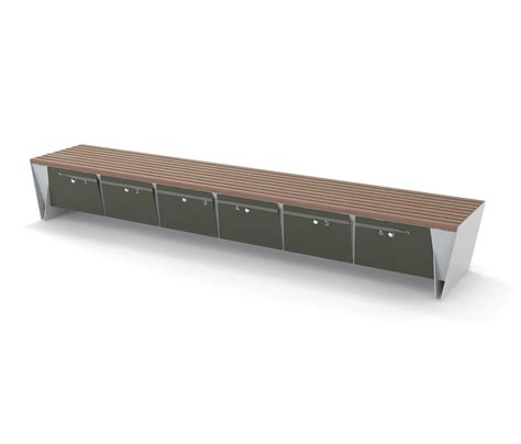 bench boxes eblocq park bench with integrated lockable storage boxes