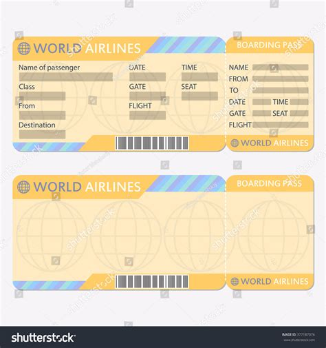air ticket template plane ticket invitation template free pass template sle