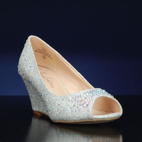 Silver Wedge Wedding Shoes by What Are The Benefits Of Wedding Shoes Wedges