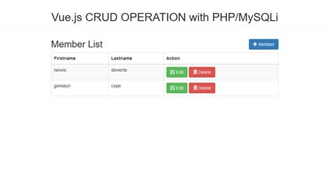 javascript tutorial mysql vue js fetch data from mysql database using php free