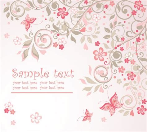 Delicate Pink Floral Butterfly Abstract Background Welovesolo Quinceanera Powerpoint Template