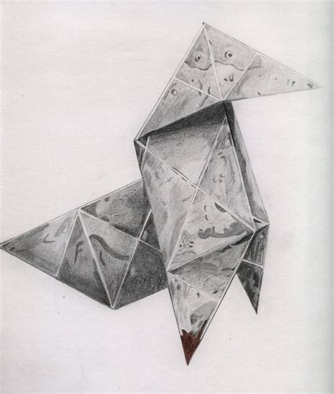 origami drawings heavy origami crane by risingphoenix33 on deviantart